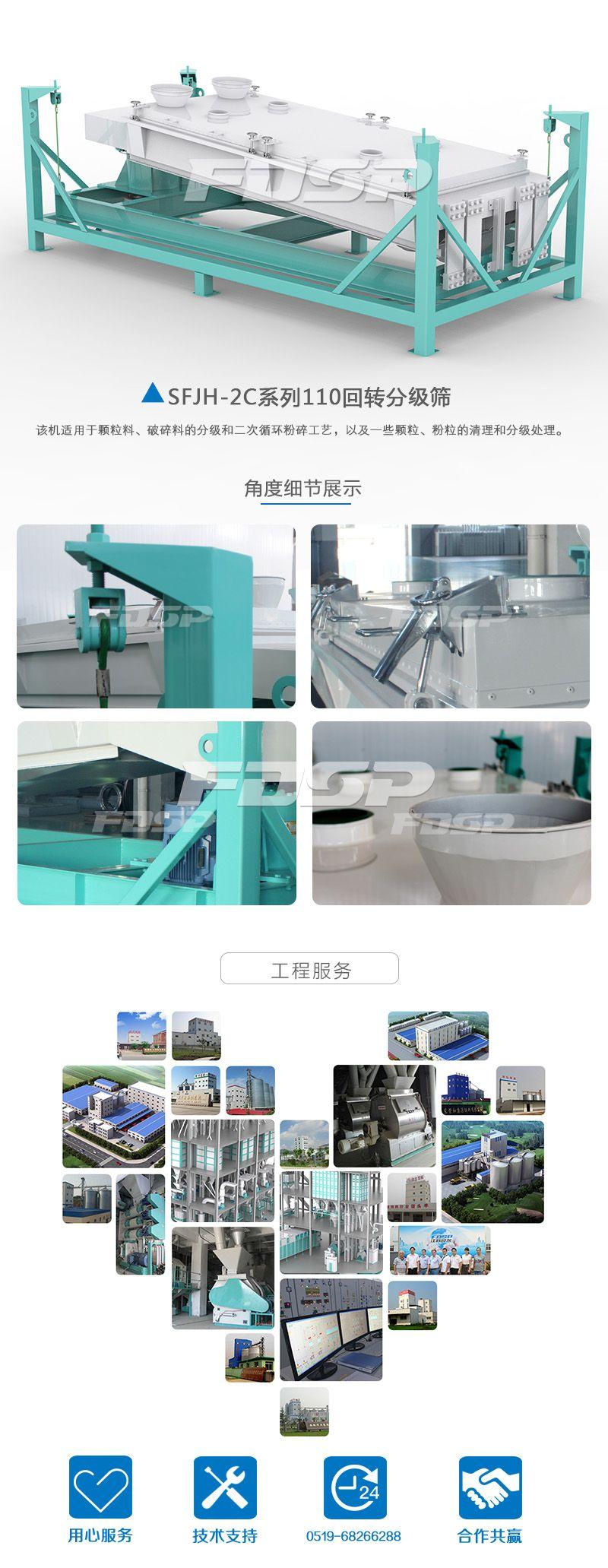 Pantalla de clasificación giratoria serie SFJH110 × 2C