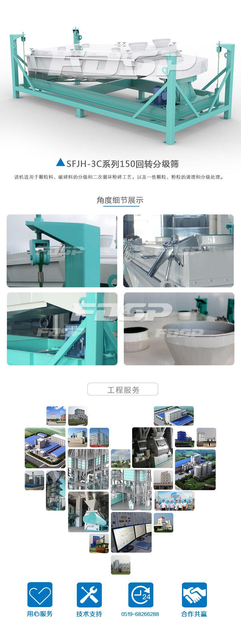 Criba de clasificación giratoria serie SFJH150 × 3C