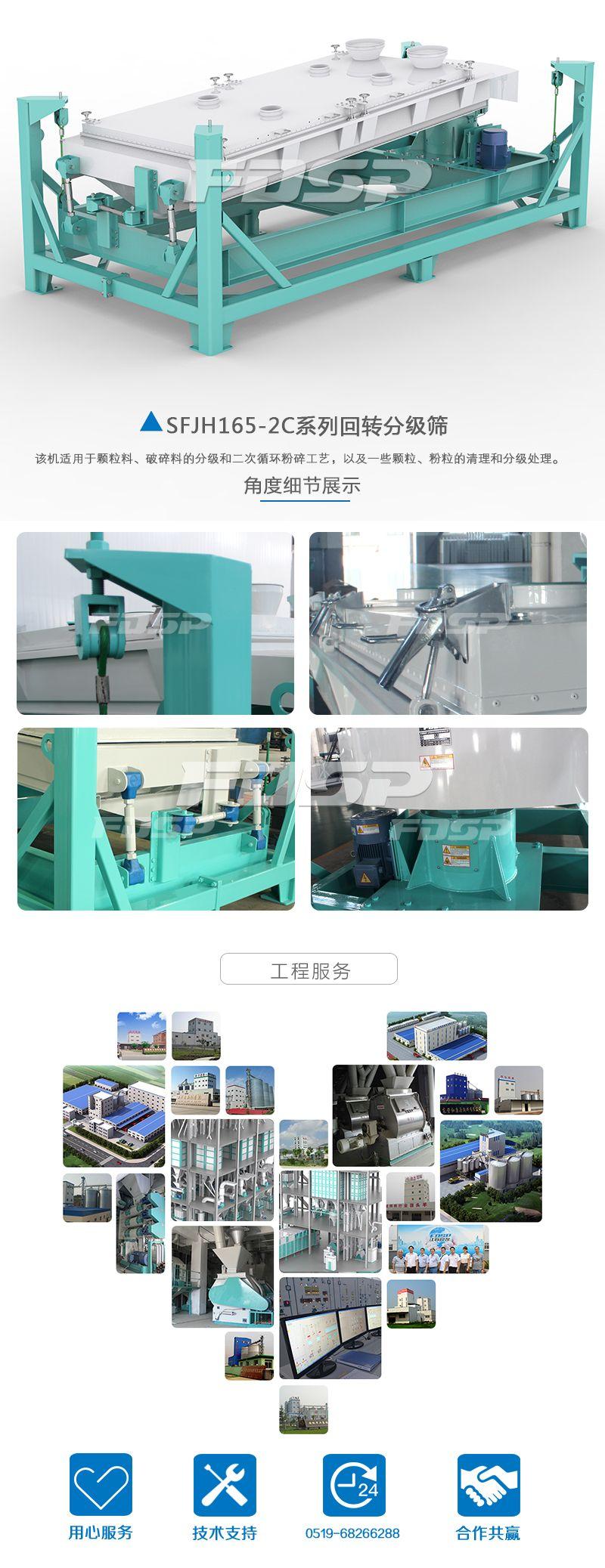 Pantalla de clasificación giratoria serie SFJH165 × 2C