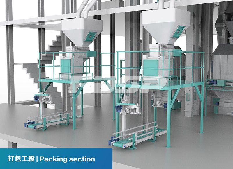 Línea de producción de alimentos para ganado y aves de corral SZLH420 (20 toneladas por hora) de dos líneas