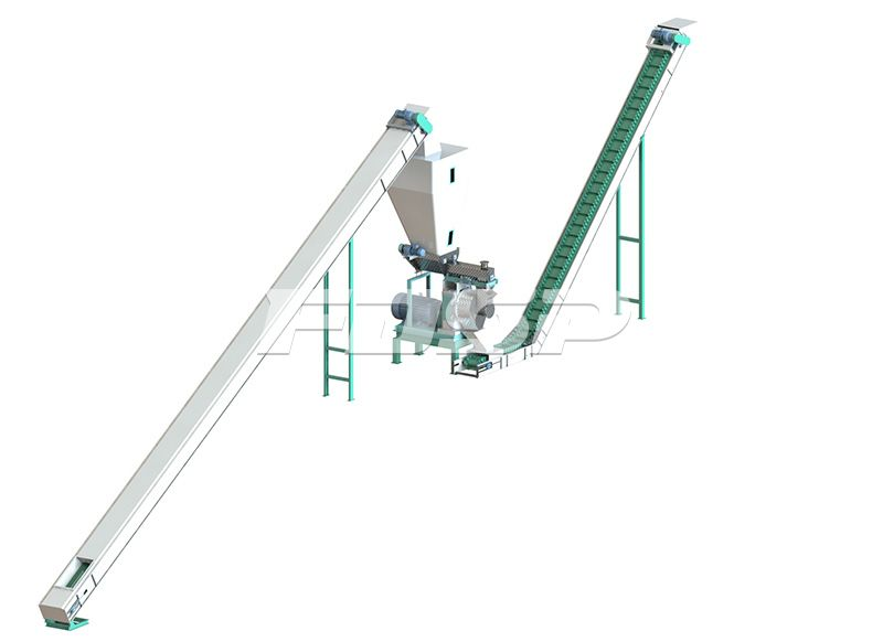 Línea de producción de 2-3 toneladas / hora de alimentos urbanos y materiales de cocina Línea de producción de granulación de fertilizantes bioorgánicos