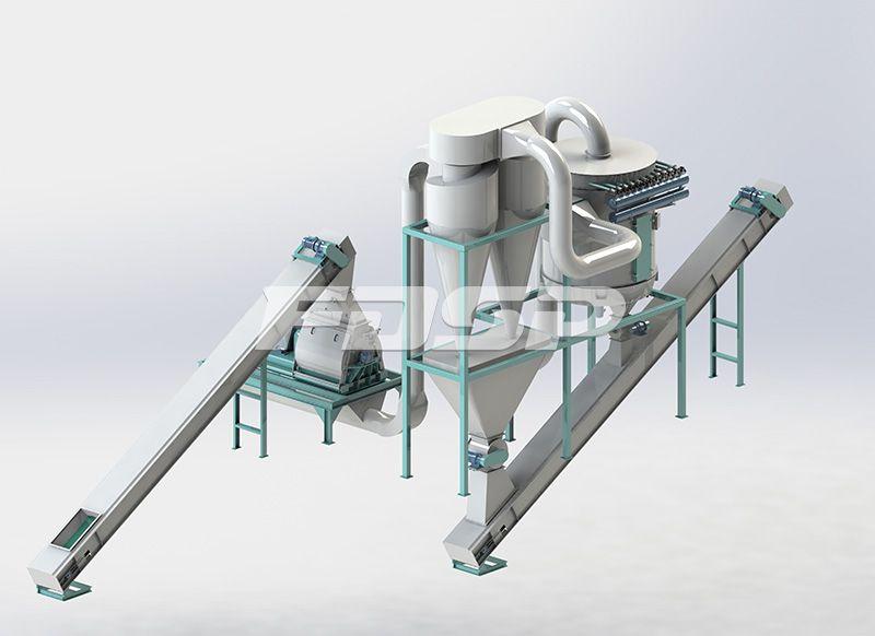 Línea de producción de troncos de 20 toneladas por hora