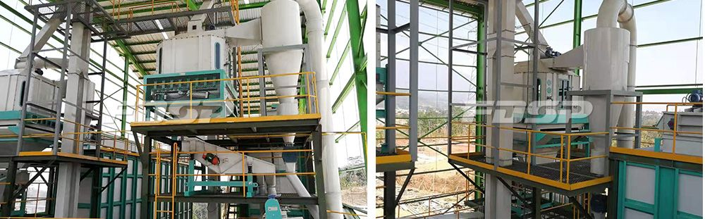 Línea de producción de troncos de 15 toneladas por hora