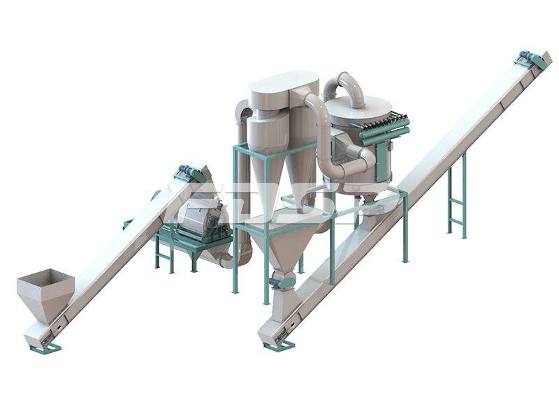 3-5 toneladas por hora de construcción de la línea de producción de peletización de plantillas