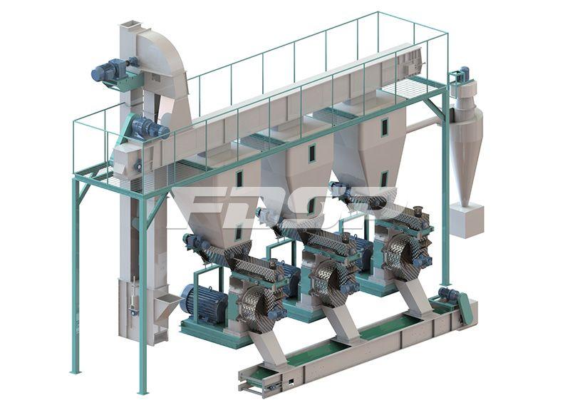 Línea de producción de granulación de chatarra de 2,5-3,5 toneladas / hora