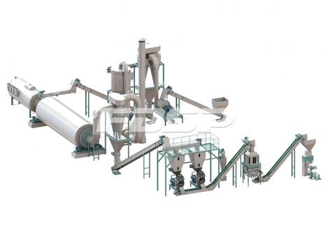 4-6 toneladas de línea de producción de peletización de residuos de cultivos por hora