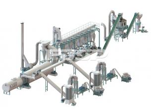 5-7 toneladas de línea de producción de