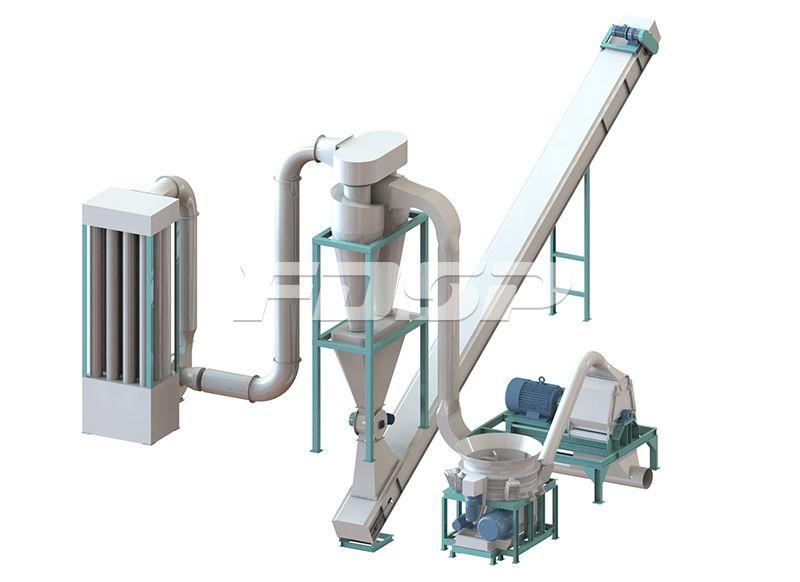 5-7 toneladas de línea de producción de granulación de paja de biomasa por hora