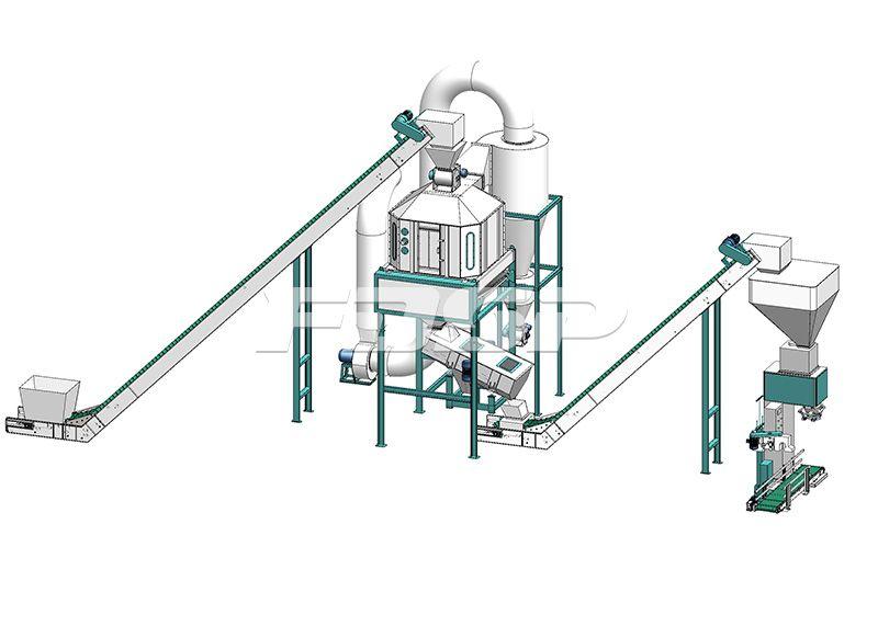 4-6 toneladas de línea de producción de peletización de biomasa de residuos de palma por hora