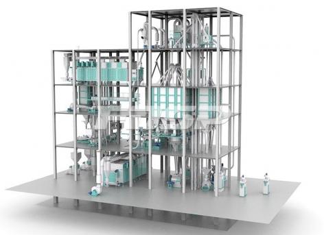 Línea de producción de alimento acuático extruido de doble línea de 6-12T / hora