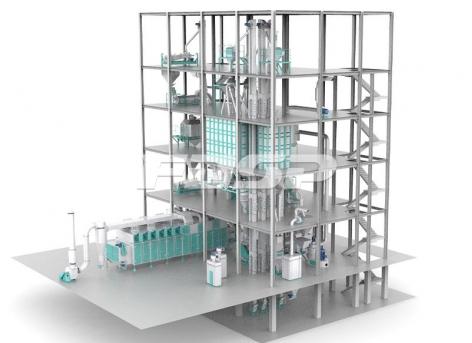 Línea de producción de alimento acuático extruido 3-6T / hora