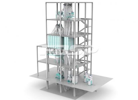 Línea de producción de alimento concentrado 15T / hora
