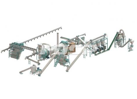 6-7 toneladas / hora línea de producción de granulación de fertilizantes orgánicos de estiércol de cerdo