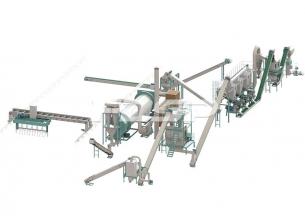 Línea de producción de pellets de ferti