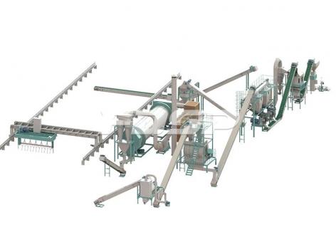 Línea de producción de granulación de fertilizantes bioorgánicos con una producción de 4-5 toneladas de residuos sólidos urbanos