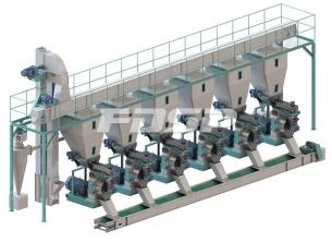 Línea de producción de troncos de 15 to
