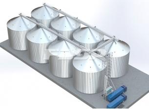 Proyecto de silo de acero para maíz 8-40