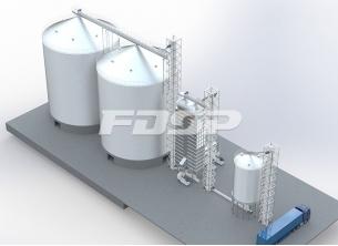 Proyecto de silo de acero de soja para la