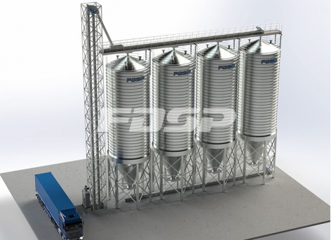 Proyecto de silo de acero de harina de soja 4-200T