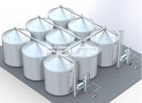 Proyecto de silo de acero para maíz de la industria de piensos 9-6000T