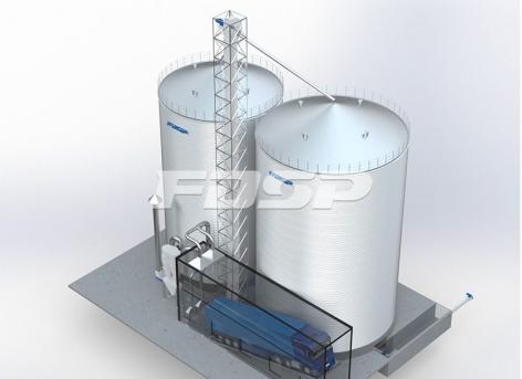 Proyecto de almacén de maíz 1-2000T y 1-3000T en la industria de piensos