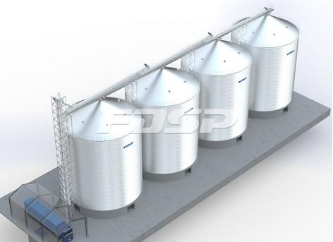 Industria de materiales de construcción Proyecto de silo de acero para cemento 4-3000T
