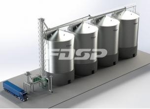 Proyecto de silo de acero de soja 4-2000T