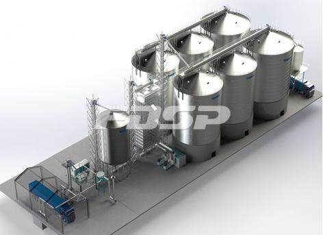 Industria petrolera 4-1500T y 2-2000T proyecto de silo de acero para plantas petroleras