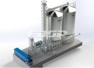 Proyecto de silo de acero de trigo 2-1000