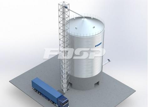 Proyecto de silo de acero de sorgo 1-1500T para la industria cervecera