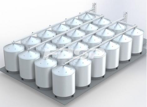 Proyecto de silo de acero para maíz en puerto de 24-3700m³