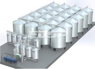 Proyecto de silo de acero de soja 24-2500