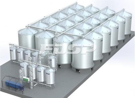 Proyecto de silo de acero de soja 24-2500T