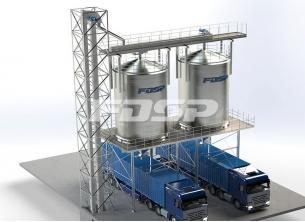 Proyecto de silo de acero a granel termin