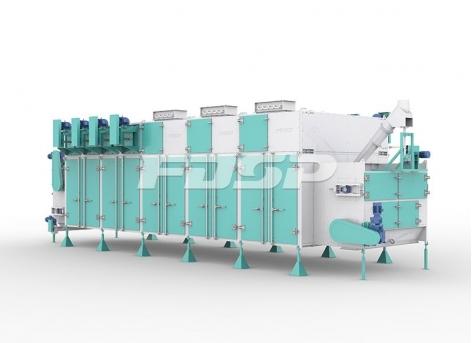 Secador de circulación horizontal de la serie SHGW de maquinaria de alimentación
